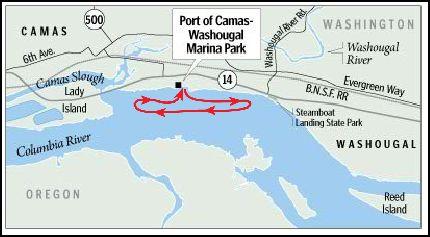 Christmas Ships Camas route