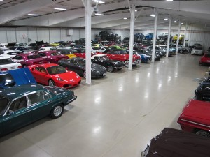 "Here's our indoor ""car show"", by the way — our winter storage was at capacity!"