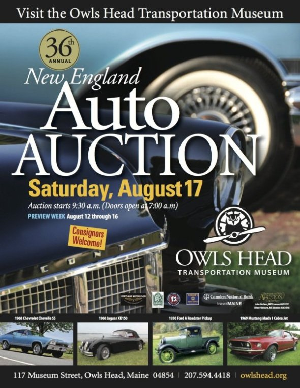 New England Auto Auction at Owls Head Transportation Museum - Saturday, August 17, 2013