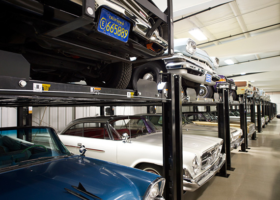 16 new storage lifts at the Portland Motor Club