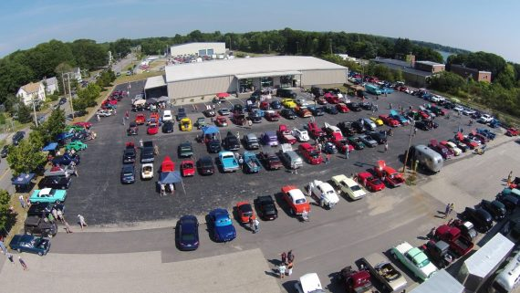 2015 Toys-for-Tots Car Show at the Portland Motor Club - Aerial View