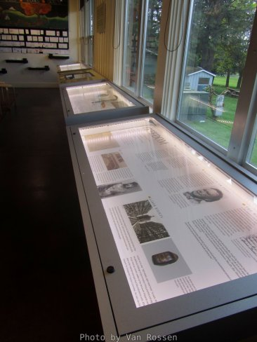 Some info displays at the visitor center.