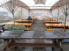 For food cart pods to survive they have to make it through our cold wet winters. Neighborhood pods have added cover seating, propane heaters and fire pits.