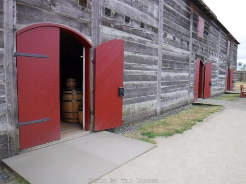 A replica of one of the fur warehouses.