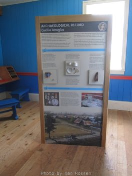 Information boards explain about some of what has been found at digs at the fort.