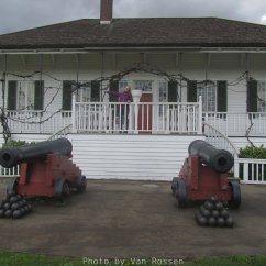 It was said that offender were brought before McLoughlin while he stood upon this porch. If found guilty the offender might be tied to the a cannon and whipped or sent to the jail.