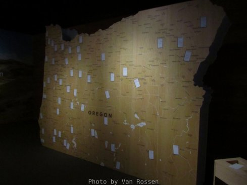 Part of temporary exhibit on where we came from in Oregon