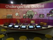 This exhibit include a number of interactive displays.
