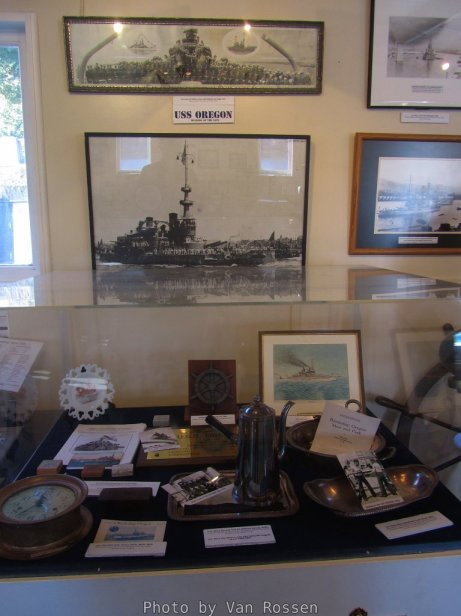 Photos and memorabilia from the USS Oregon.