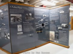 Most of the information is brought forth through a series of display panels.
