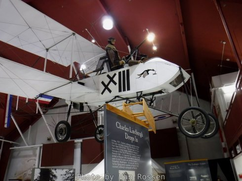 One of the replica plans at the air museum.