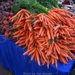 The market was full of late season fresh vegetables.
