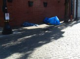 No walk to the fringe areas of downtown is complete without walking over or by the homeless.