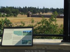 There is a nice view of Fort Vancouver from the land bridge.