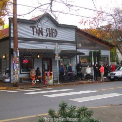 One of the most highly rated places in Portland to have breakfast in Portland is the Tin Shed