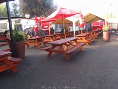 This food cart is tied in with Prost Pub. You can by your beer from Prost and food from the carts.