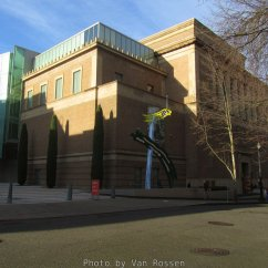 The Portland Art Museum art collection is housed in to separate buildings. This building holds the modern art collections.