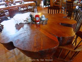 This table is just a cross cut section of old growth tree.