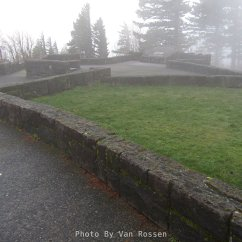 Foggy day at Portland Women's Forum view point.