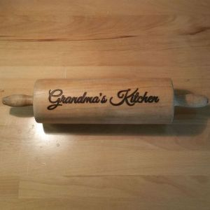 Grandma's Kitchen (Up-Cycled) Wood Burned Rolling Pin