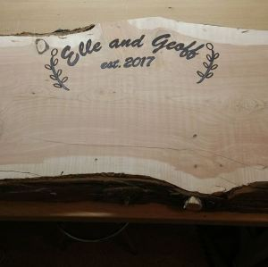Wedding Guest Wood Burned Signature Plank