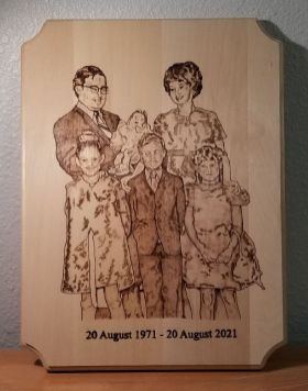 Finished McCown Family Portrait