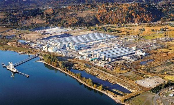 Millennium Bulk Terminals near Longview Washington