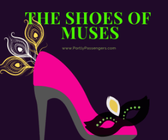 The muses us shoes to make their mark known to parade goers. From stilettos to horse shoes they never disappoint.
