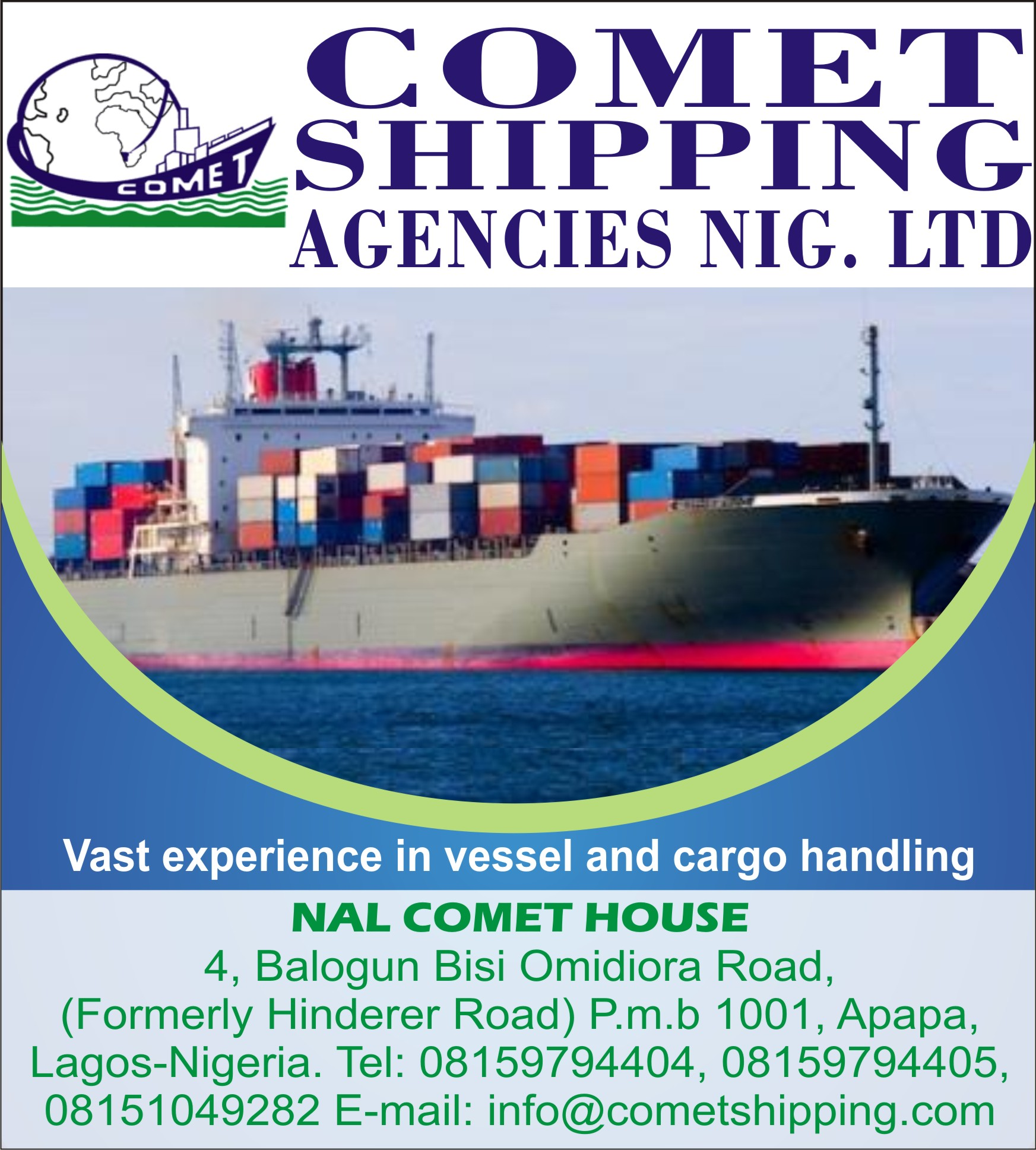 NAL COMET SHIPPING AGENCIES