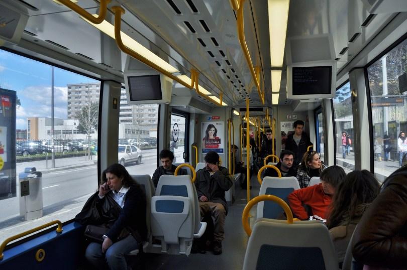 Interieur rame metro Porto