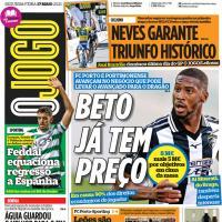 Capas jornais desportivos 17-05-2021