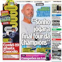 Capas jornais desportivos 14-06-2021