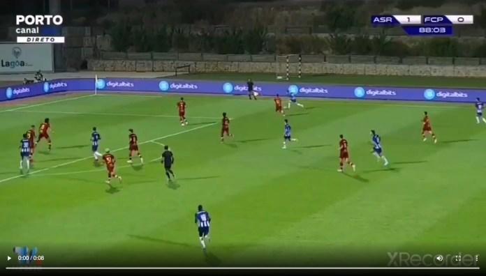 Vitinha faz o empate contra a AS Roma desta forma