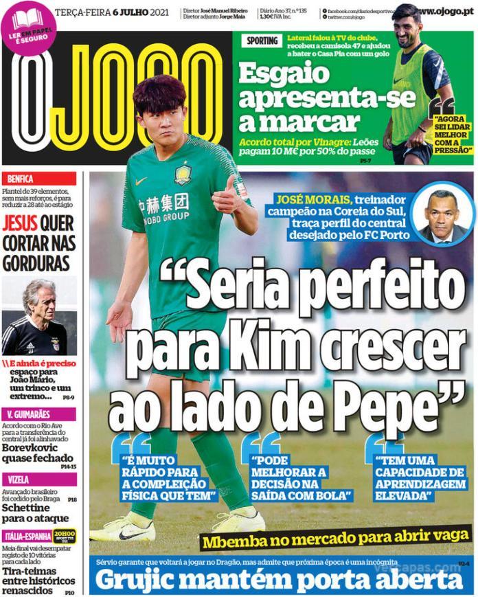 Capas jornais desportivos 06-07-2021