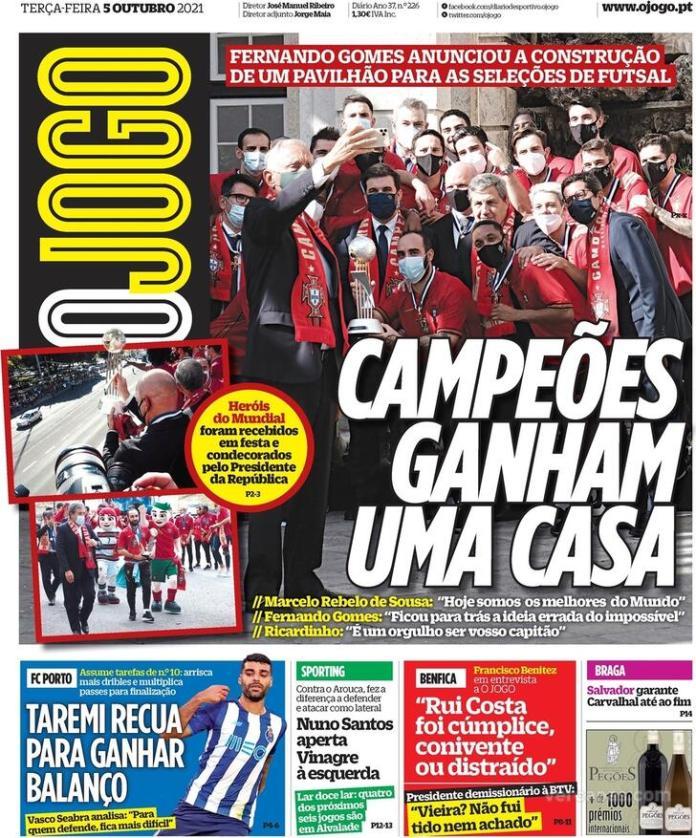 Capas Jornais desportivos 05-10-2021
