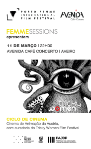 Session #12- March 11th | BRIGHT SPOTS & PUSHING BOUNDARIES - Tricky Women Film Festival | Austria