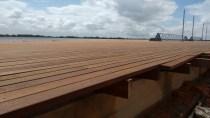 Zoom da madeira usada