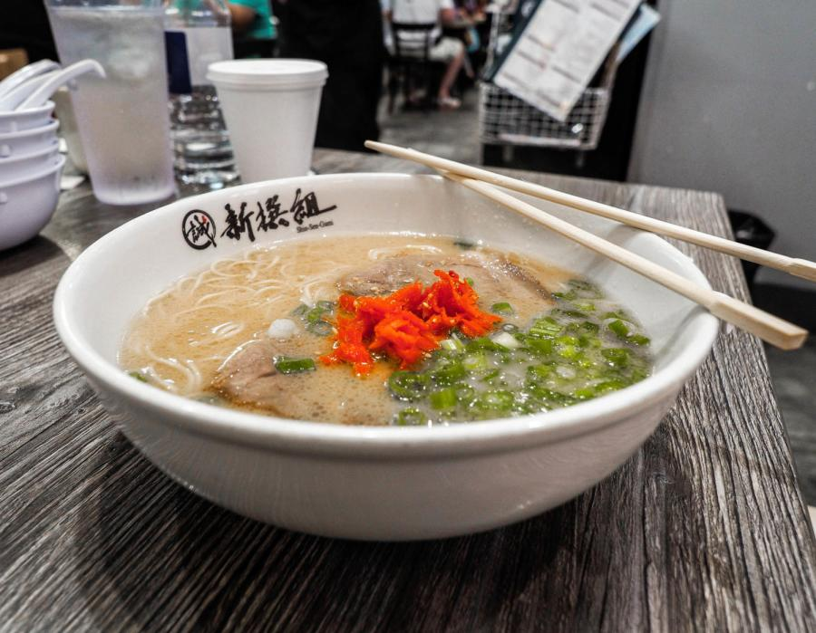 One+of+Shin-Sen-Gumi%27s+popular+dishes%2C+Hakata+Ramen%2C+featres+a+deep+and+flavorful+soup+base+topped+with+noodles+customized+to+cook+the+way+you+order+it.+The+ramen+also+comes+with+pieces+of+pork+belly%2C+green+onion+and+ginger.+