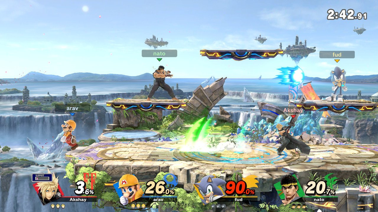 """Level Up: """"Super Smash Bros. Ultimate"""" revamps the free for all play mode with new characters options while keeping fan favorites like Mario, Sonic, Cloud and Ryu. Stages like the Battlefield arena receive a makeover with improved visuals and jaw-dropping scenic backgrounds."""