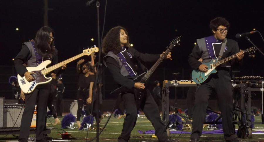 Guitarists sophomore Joaquin Goana and junior Jeffrey Mejia have practiced their instruments for many years, but bassist and junior Cinta Adhiningrat is a self-taught rising musician.