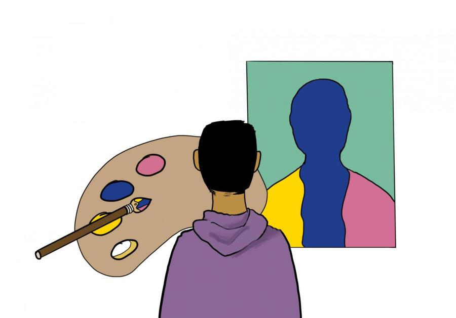 The components of an individual's identity can be represented by a rainbow of colors, combining to create a brilliant canvas of interwoven shades and hues, each with their own unique hardships.