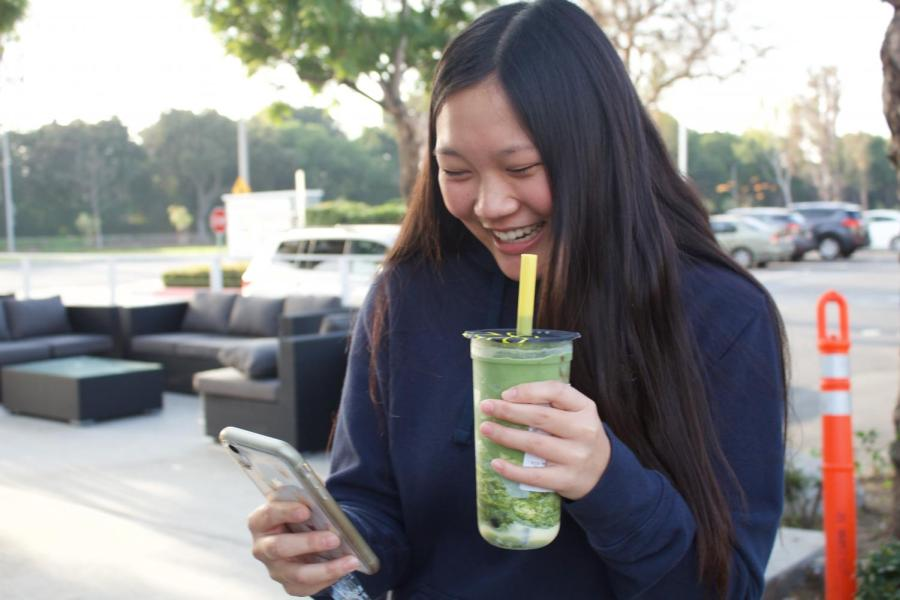 """As Truong looks over her account, she recalls some of her favorite memories. """"My most proud achievement was when Ding Tea reposted my photo; I was very happy,"""" Truong said."""