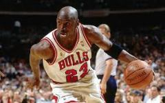 Chicago Bulls legend Michael Jordan drives toward the lane in a 1996 NBA Finals game. Jordan is widely considered the greatest basketball player of all time for his accomplishments, including six NBA Championships in eight seasons from 1991 to 1998, and his immense individual talent.