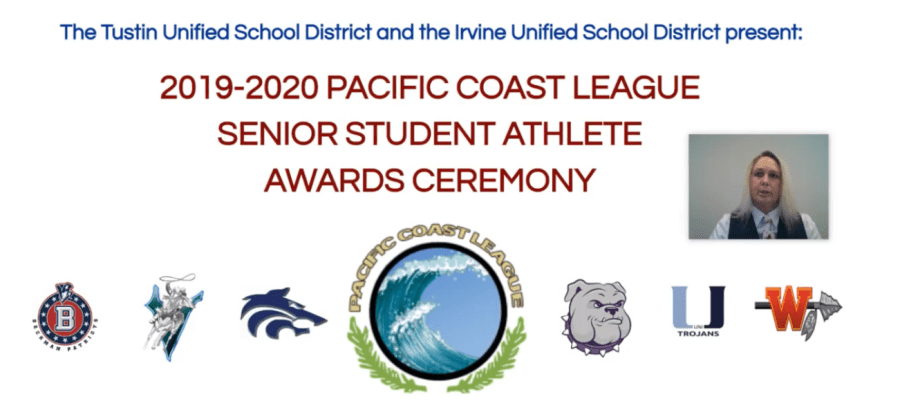 """Although this year's ceremony was held on a virtual platform, the celebrations of these athletes remained strong. Principal John Pehrson said, """"in no way [the process] diminishes our admiration or gratitude for all you do and what you stand for."""""""