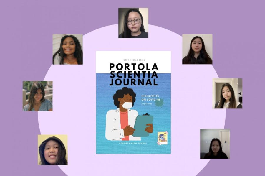Like many other clubs, the newly added Scientia Club had to adapt its interactive activities to be virtual and hosted weekly Zoom meetings during which club members collaborated to create their first magazine issue, pictured above.