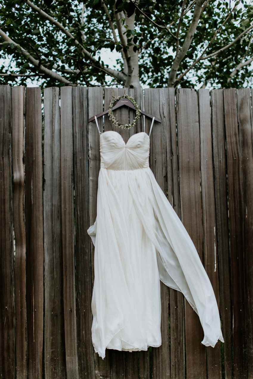 sarah seven strapless wedding dress