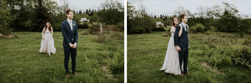 lummi island wedding seattle wedding photographer first look