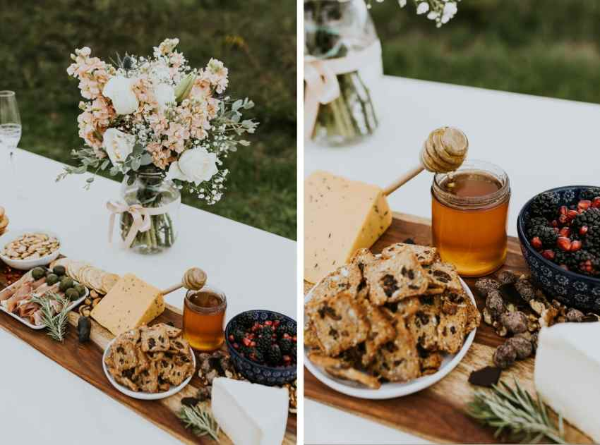 lummi island wedding seattle wedding photographer cheese plate