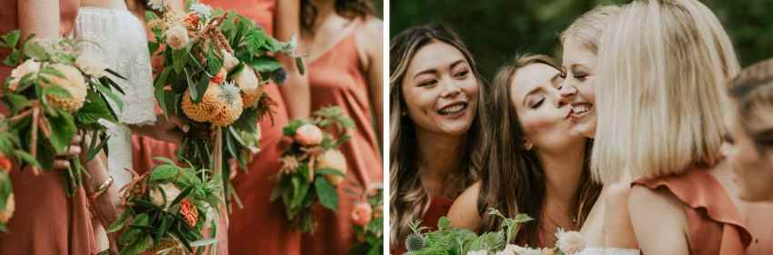 seattle wedding photographer cute bridesmaid photo