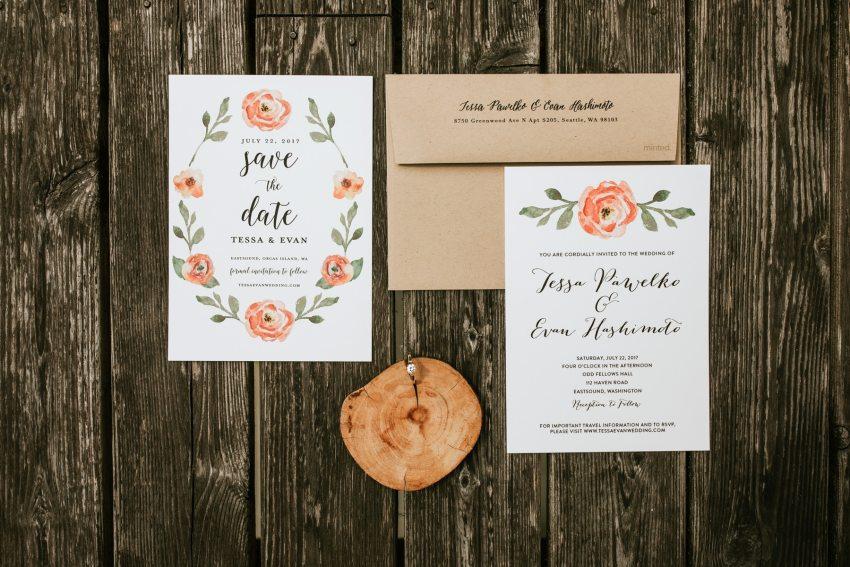 orcas island wedding invitations